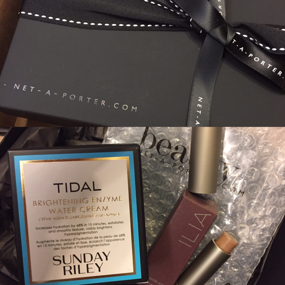 My Net-a-Porter Shopping - Sunday Riley Water Cream & ILIA Lip Exfoliator